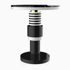 Chimalis Variation 3 Side Table with Gold Band & Black Top from CASALTO