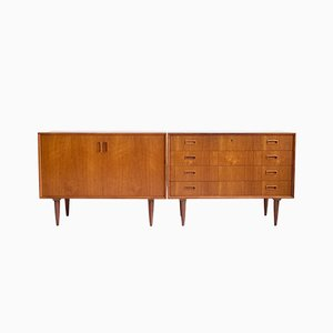 Vintage Danish Teak Credenzas, Set of 2