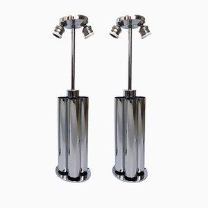 Französische Tischlampen, 1970er