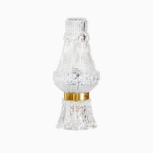Lámpara de mesa de vidrio texturizado, años 70