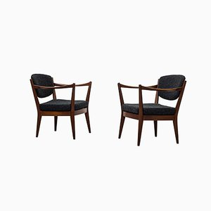 Norwegian Kaminstolen Chairs by Fredrik Kayser & Adolf Relling for Arnestad Bruk, 1950s, Set of 2
