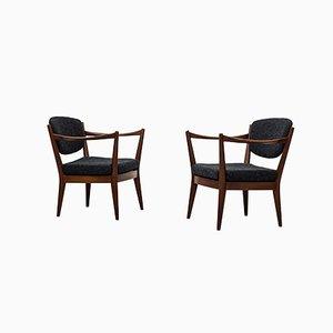 Norwegische Kaminstolen Stühle von Fredrik Kayser & Adolf Relling für Arnestad Bruk, 1950er, 2er Set