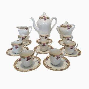 Limoges Kaffeeservice aus Porzellan mit 8 Tassen von Sigismond Mass, 1920er
