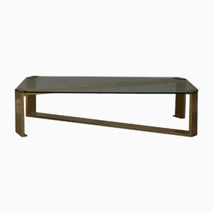 Vintage Large Brass Coffee Table by Romeo Rega