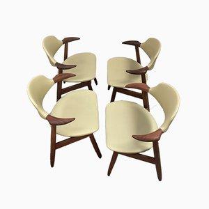 Cow Horn Esszimmerstühle von Tijsseling für Hulmefa Nieuwe Pekela, 1960er, 4er Set