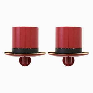Hat Wall Sconces by Hans Agne Jakobsson for Markaryd, 1960s, Set of 2