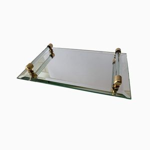 Französisches Art Deco Tablett mit Spiegel, 1920er