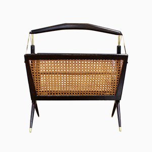 Mid-Century Italian Magazine Rack by Cesare Lacca, 1950s