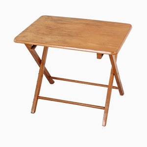 Vintage German Oak Folding Table, 1950s