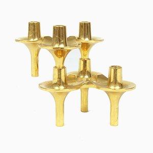Modulare Kerzenständer von C. Stoffi & F. Nagel, 1980er, 2er Set
