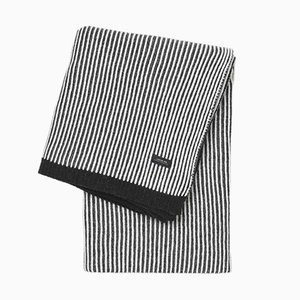 Black & White Striped Sunday Throw by Louise Roe