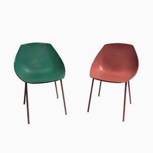 Chaises Coquillage Vintage par Pierre Guariche pour Meurop, 1960s, Set de 2