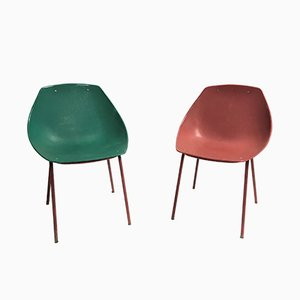 Vintage Coquillage Chairs by Pierre Guariche for Meurop, 1960s, Set of 2