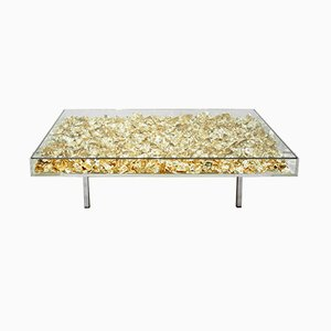 French Monogold Coffee Table by Yves Klein, 2000s