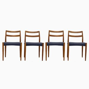 Anne Esszimmerstühle von Johannes Andersen für Uldum Møbelfabrik, 1960er, 4er Set