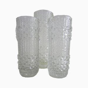 Candle Wax Vases Set by Frantisek Peceny for Hermanova Hut, 1970s