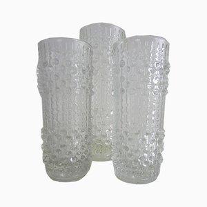 Vases Candle Wax par Frantisek Peceny pour Hermanova Hut, 1970s, Set de 3