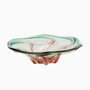 Large Glass Bowl by Josef Hospodka for Chribska Sklarna, 1960s
