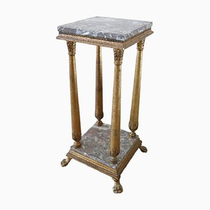 Vintage Carved and Gilded Wood Side Table, 1930s