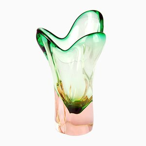 Vase en Verre par Josef Hospodka pour Chribska Sklarna, 1960s