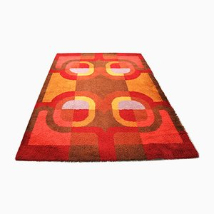 Geometric Wool Carpet, 1970s