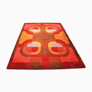 Tappeto geometrico in lana, anni '70