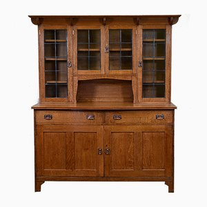 Antique Arts & Crafts Golden Oak Cupboard