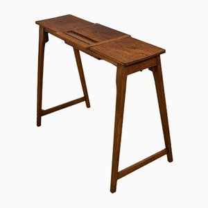 Antique Oak Army Travel Campaign Folding Table
