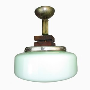 Antike apfelgrüne Lampe