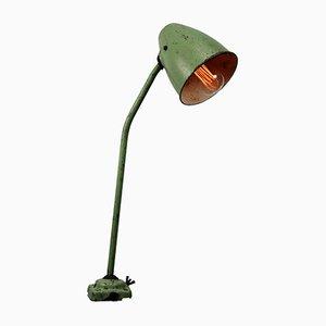 Lampada da tavolo vintage in metallo verde