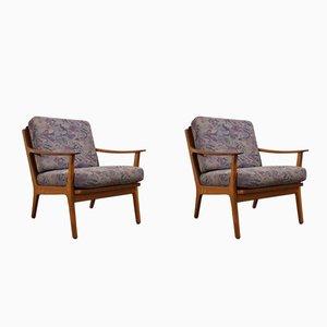 Dänische Mid-Century Sessel mit Gestell aus Teak, 1960er, 2er Set