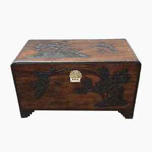 Carved Camphor Wood Chest, 1920s