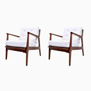 Danish Lounge Chairs by Ib Kofod-Larsen for Selig, 1960s, Set of 2