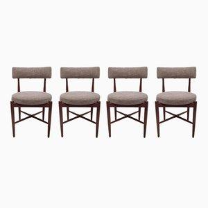 Teak Fresco Dining Chairs by Ib Kofod Larsen for G-Plan, 1960s, Set of 4