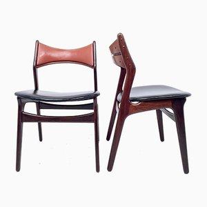Vintage Esszimmerstühle von Erik Buch für CHR Christensen, 2er Set