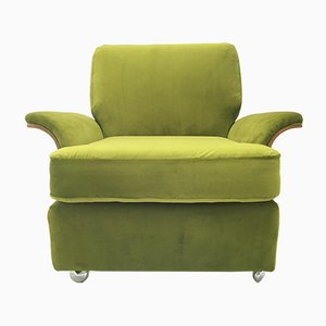 Vintage Green Teak Saddle Armchair from G-Plan