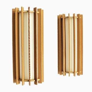 Applique da parete TEMA moderne in legno in pino di Ib Fabiansen, Scandinavia, anni '60, set di 2