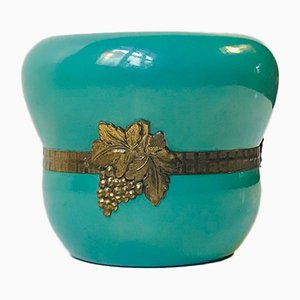 Danish Green Ceramic Vase from Humlebæk, 1950s