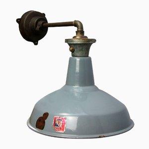 Industrielle Graue Vintage Enamle Wandlampen