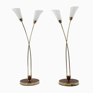 Lámparas de pie Art Déco, años 30. Juego de 2
