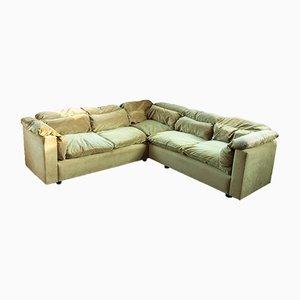 Juego de sofás modulares de terciopelo, años 70