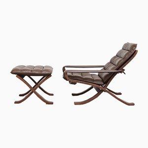 Juego de sillón y otomana Flex de Ingmar Relling fpr Westnofa, años 60