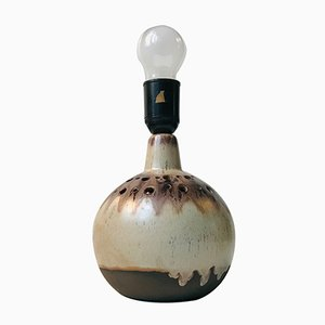 Vintage Danish Ceramic Globe Table Lamp, 1970s