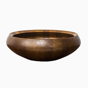 Danish Staved Teak Bowl by Jens Quistgaard for Dansk Design, 1950s
