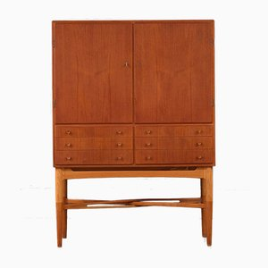Mid-Century Scandinavian Modern Ash & Teak Cabinet, 1950s