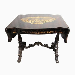 Victorian Rosewood Marquetry Sofa Table, 1860s
