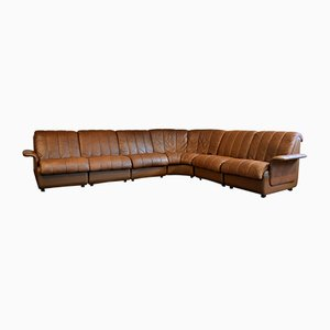 Vintage Danish Leather Modular Sofa Set from Skipper