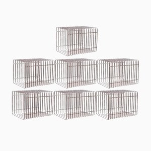 Scandinavian Modern Danish Steel Wire Storage Units, 1970s, Set of 17