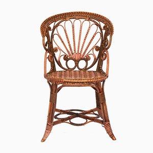 Vintage Sessel aus Schilfrohr