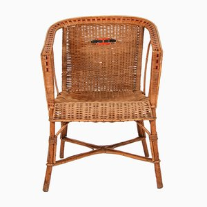 Vintage Sessel aus Schilfrohr, 1970er